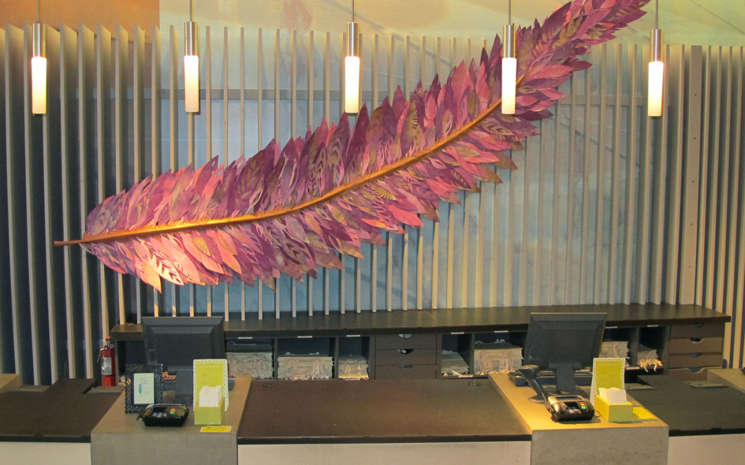 Paper Feather for Anthropologie